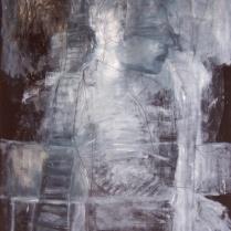 Night Blind II; oil on paper, 2006